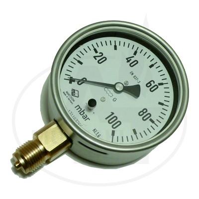 """Nyomásmérő - szelencés (manométer)1/2"""""""