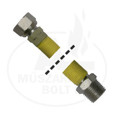 """Flexibilis gázcső 1/2"""" KB 500 - 1000 mm"""