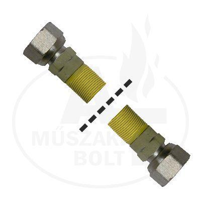 """Flexibilis gázcső 1/2"""" BB 750 - 1500 mm"""