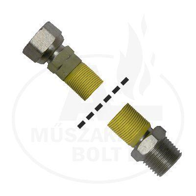 """Flexibilis gázcső 1/2"""" KB 750 - 1500 mm"""