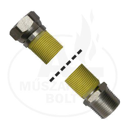"""Flexibilis gázcső 3/4"""" KB 500 - 1000 mm"""