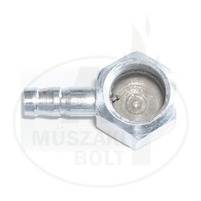 """PB tömlő csatlakozó gáztűzhelyre 1/2"""" pipa 90°"""